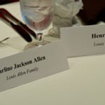 Family name cards on the table